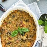 Fresh out of the oven - Italian eggplant pasticcio casserole recipe
