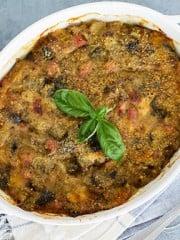 Eggplant Pasticcio Casserole with Ham & Cheese | All that's Jas