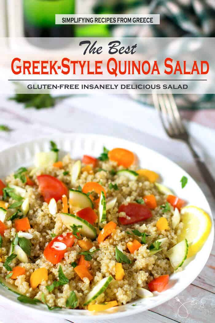 Insanely delicious, easy to make and affordable, best Greek quinoa salad