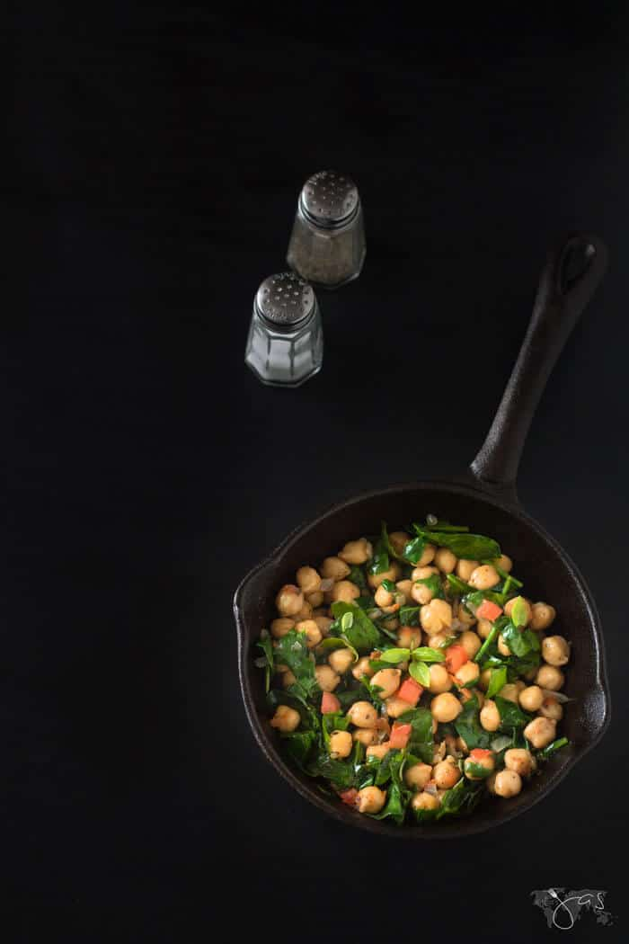 Delicious recipe for Bonefish copycat chickpeas with spinach
