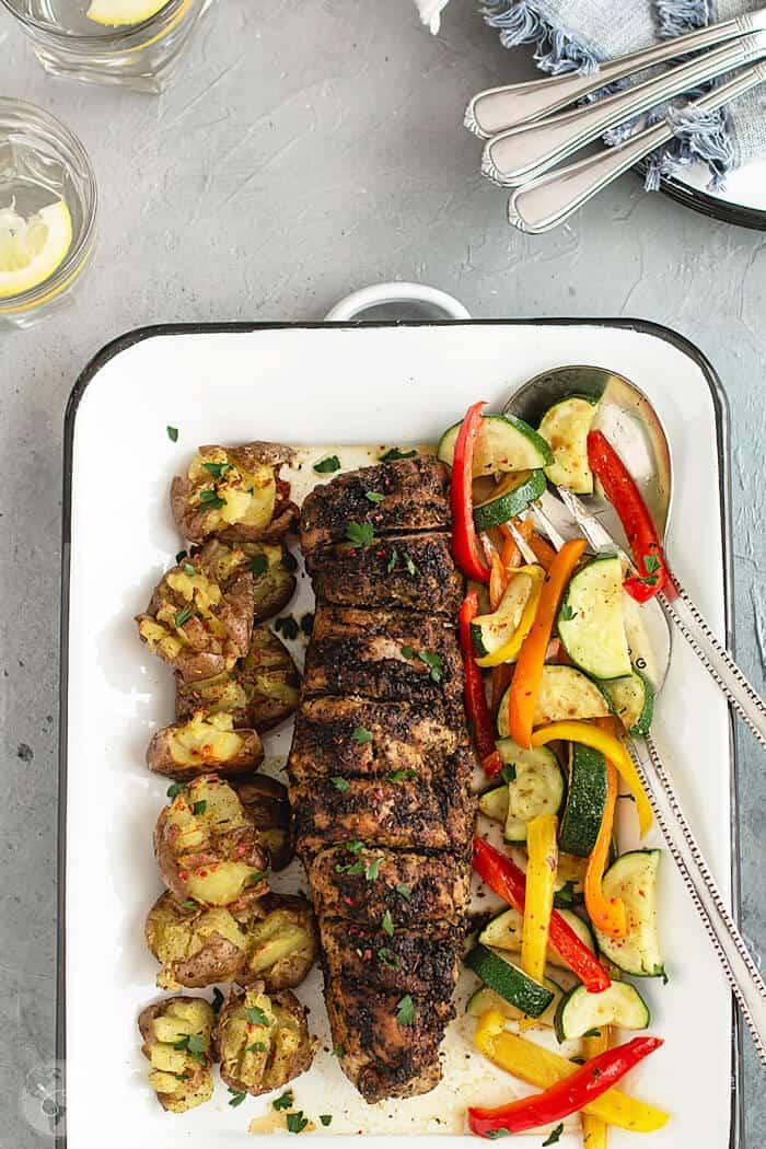 How to roast pork tenderloin with zesty Italian dressing glaze
