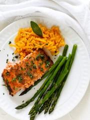 Honey Mustard Glazed Salmon Filet | All that's Jas