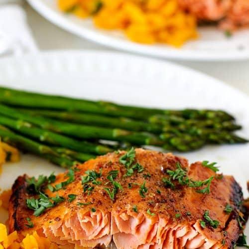 Honey Mustard Glazed Salmon Filet