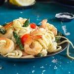 Lemon Garlic Shrimp Linguine | All that's Jas