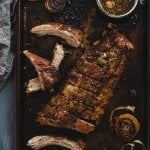 Roasted Honey Glazed Pork Ribs | allthatsjas.com | #pork #ribs #honey #glaze #ovenbaked #roasted #allthatsjas