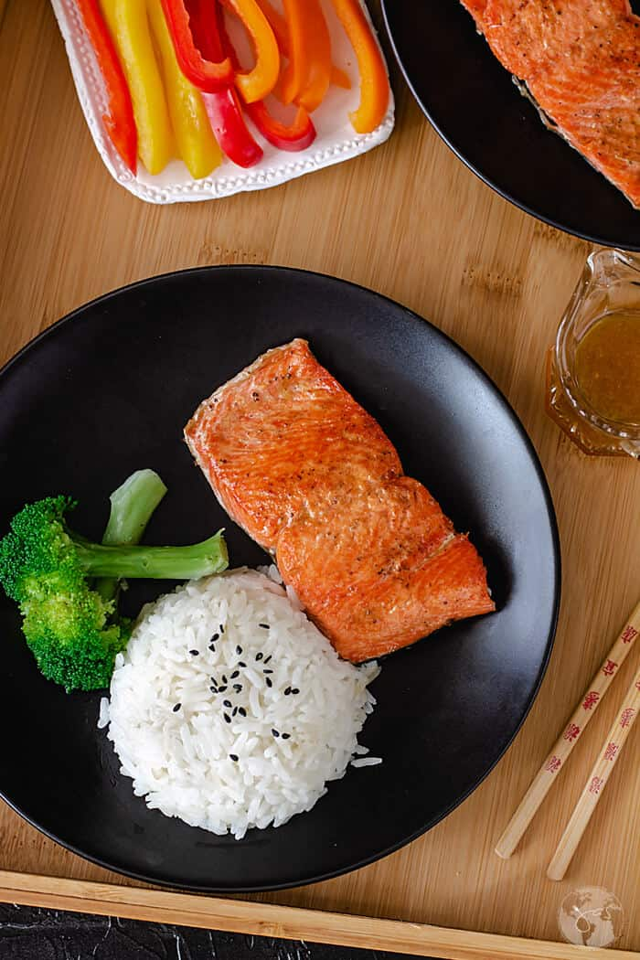 Quick And Easy Chinese Pan Fried Salmon All That S Jas