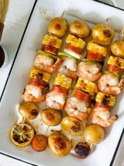 Grilled Shrimp Kebabs - Low Country Boil | All that's Jas