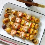 A plate of shrimp Kebab