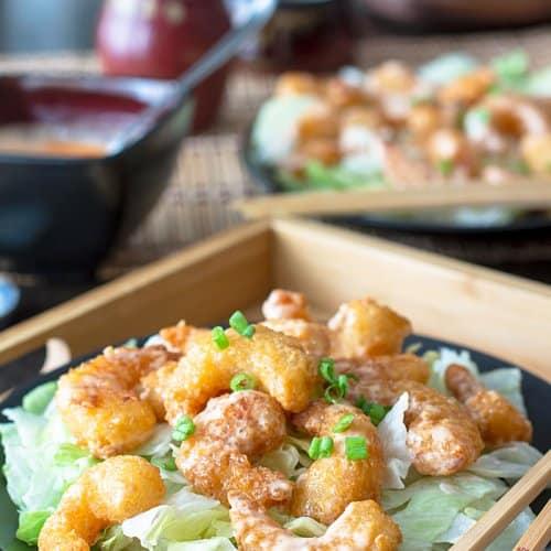 Oven-Baked Bang Bang Shrimp - Bonefish Grill Copycat Recipe | allthatsjas.com | #bangbang #copycat #seafood #shrimp #recipes #appetizer