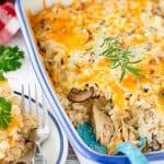Leftover Cheesy Turkey Casserole - Jas' Kickasserole