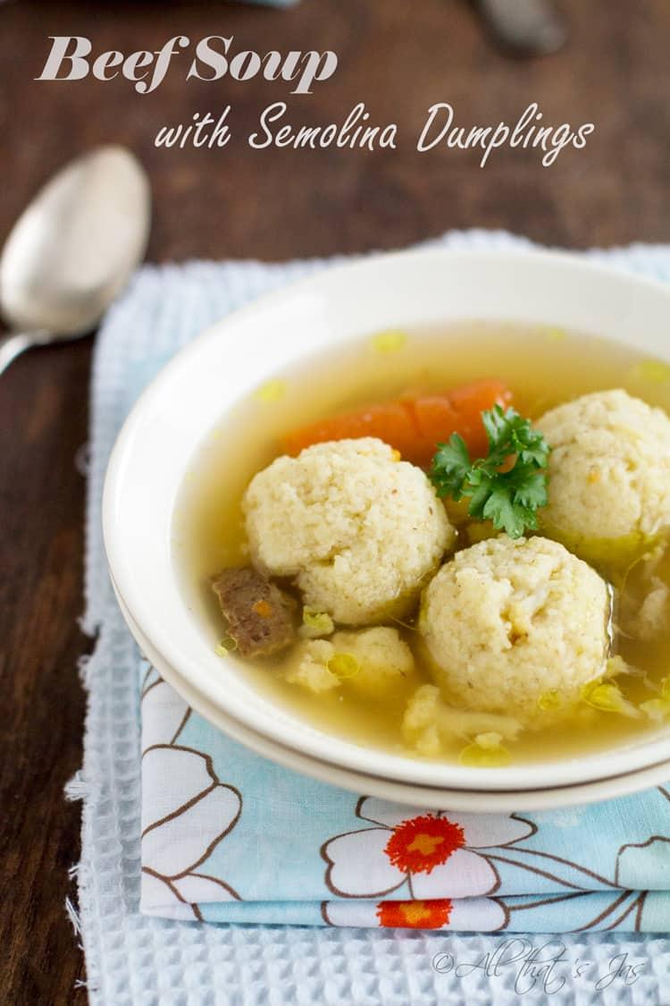 Semolina Dumpling Soup Recipes — Dishmaps