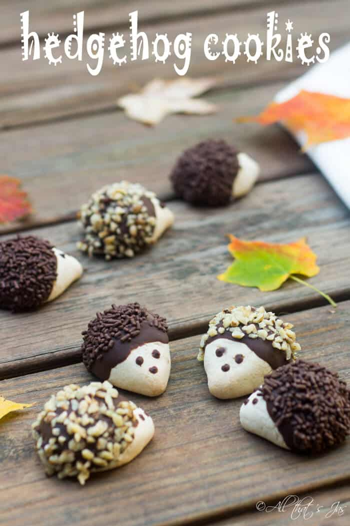 Adorable and delicious hedgehog cookies