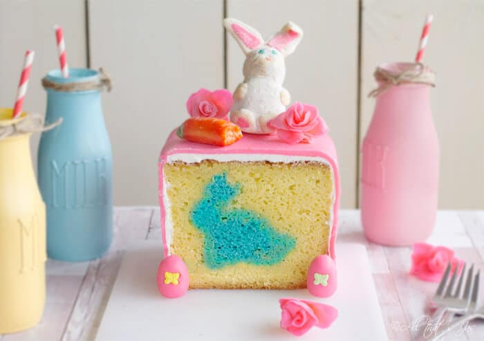 This pastel Easter bunny cake is bright and cute.
