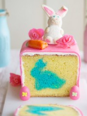 A cake with bunny