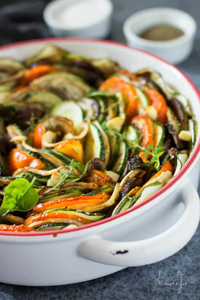 Tian Provençal vegetable bake - All that's Jas