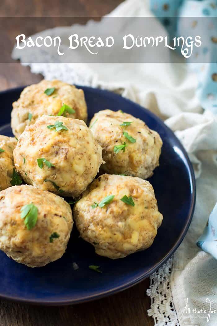 A plate with dumplings