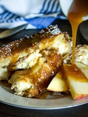 Caramel Apple Pie Bread Pudding - All that's Jas