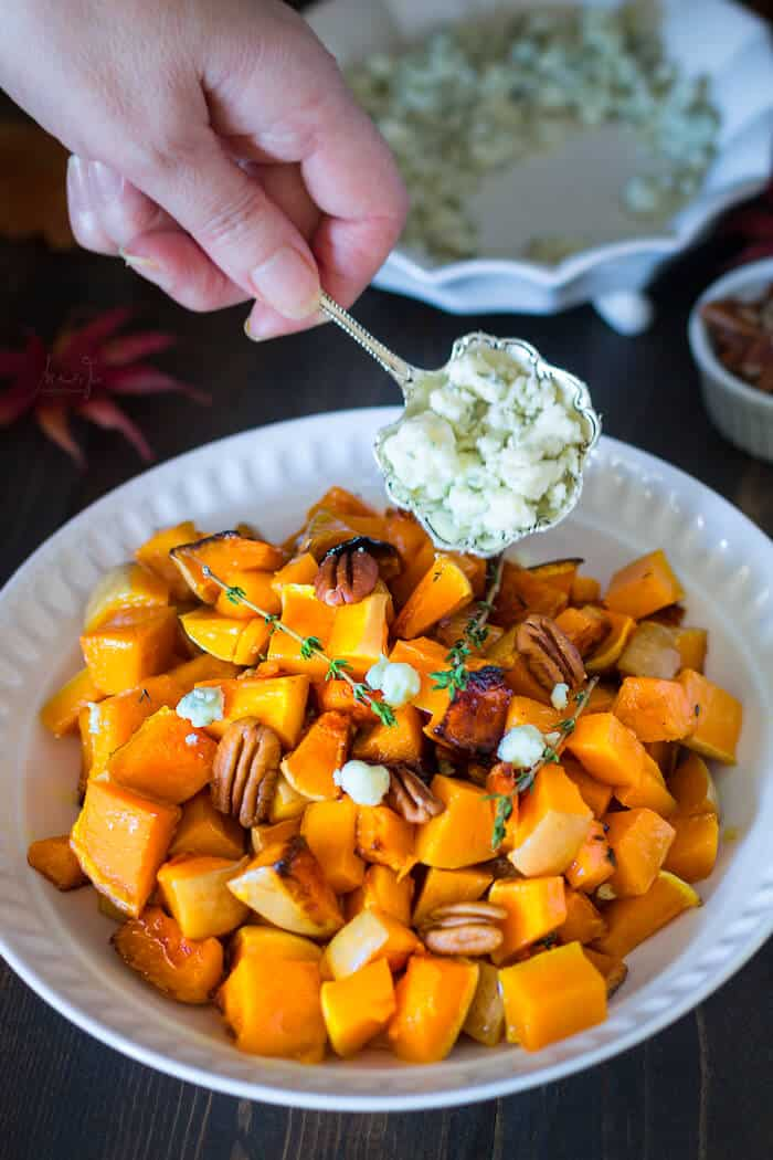 butternut squash with pecans and blue cheese roasted butternut squash ...
