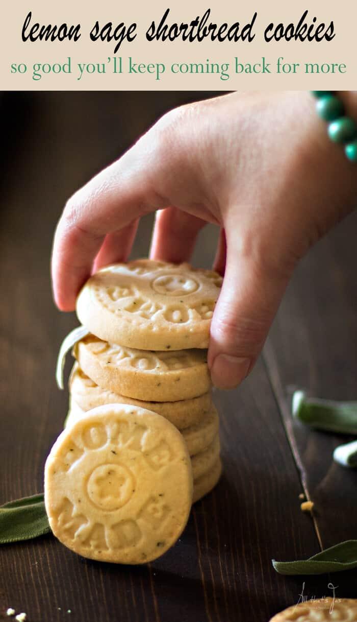 lemon sage shortbread cookies - All that's Jas