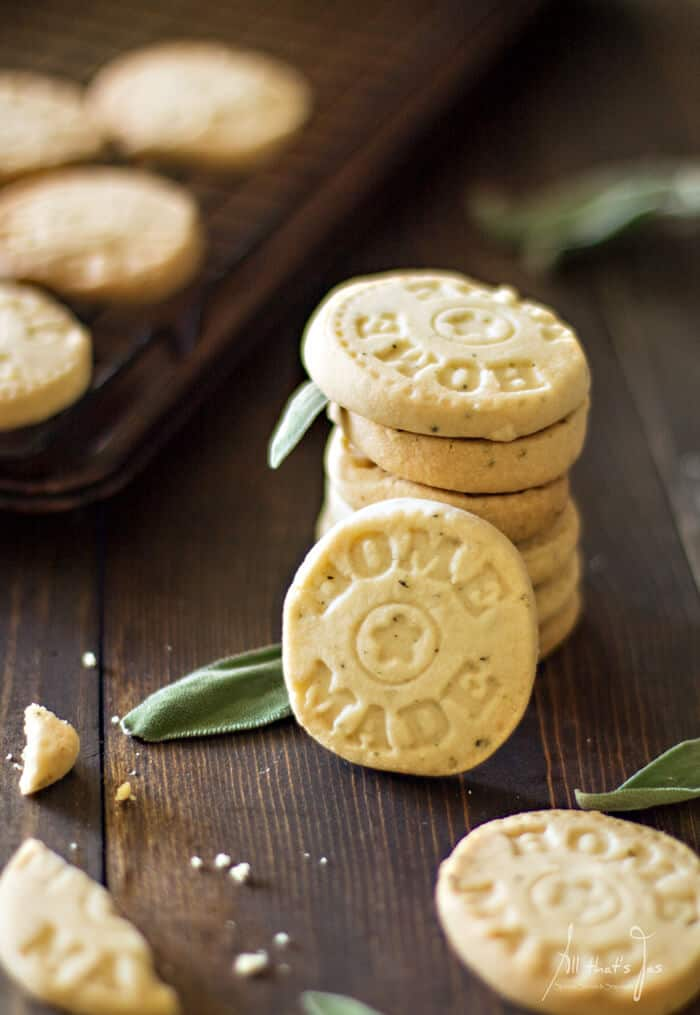 Homemade lemon sage shortbread