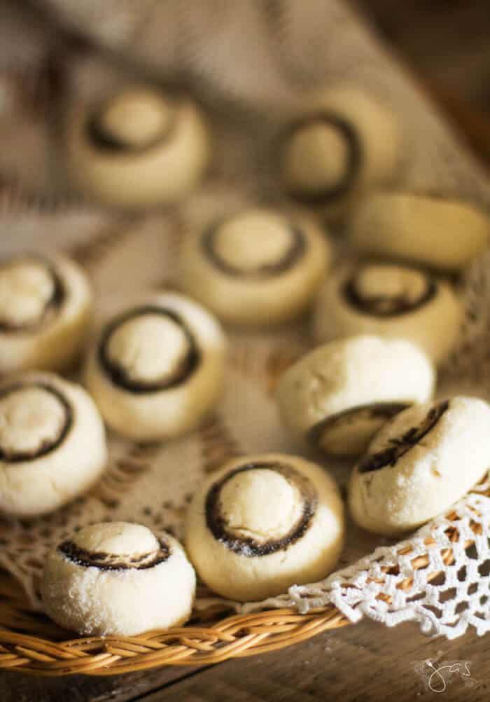 Sweet Mushroom Shortbread Cookies