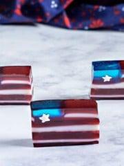 Red White and Blue Jello Flag dessert