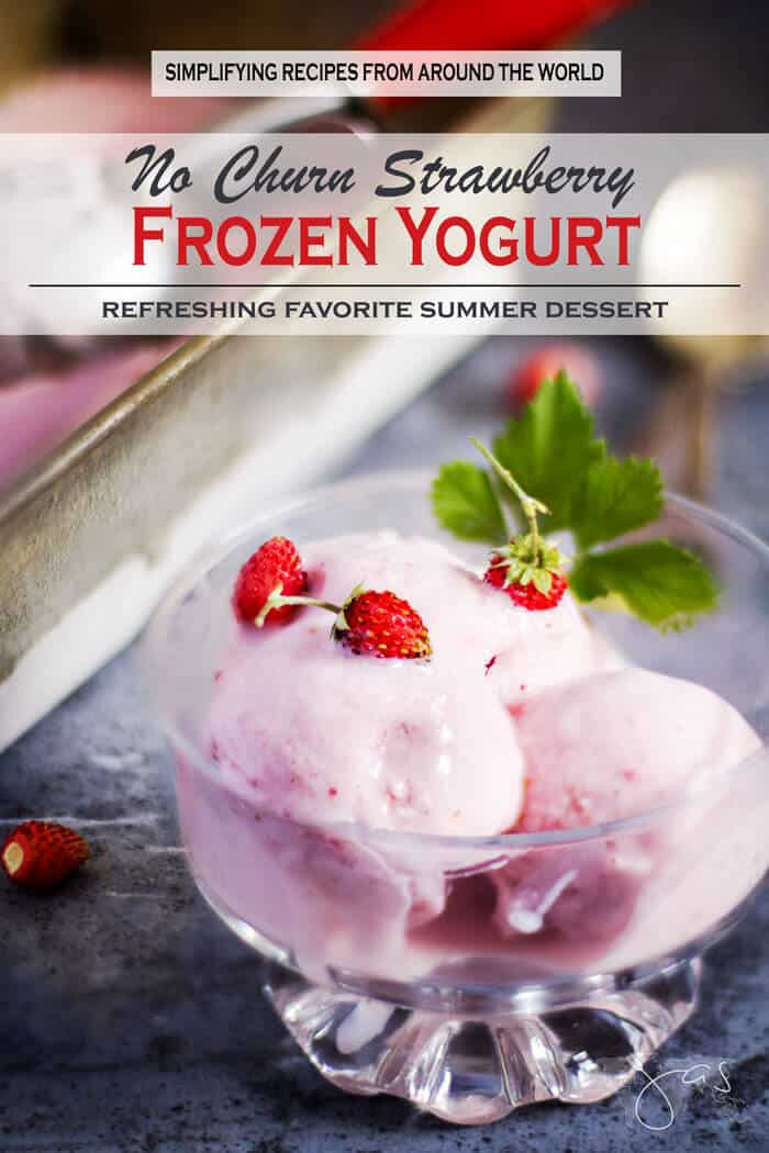 Strawberry Frozen Yogurt - How to Make No-Churn Frozen Yogurt