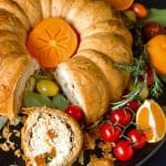 Warm or cold this ricotta bundt pie with fillo crust is a feast perfect for holidays.