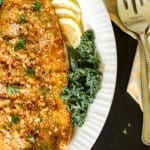 Super delicious crusted salmon fillet.