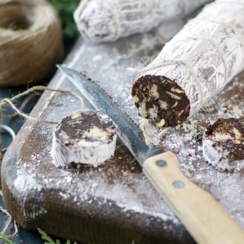 Chocolate Salami sliced