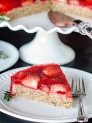 Strawberry Oatmeal Cake | All that's Jas