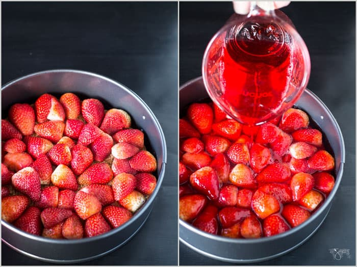 These fresh strawberries are fresh and sweet for topping the cake.