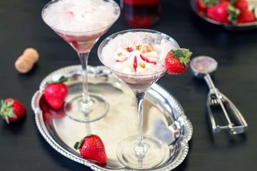Strawberry Affogato - wine & ice cream float   All that's Jas