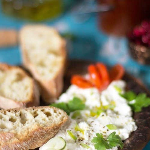 savory farmer's cheese