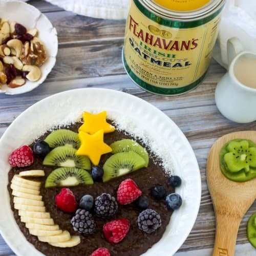 Flahavan's steel cut oats for chocolate porridge with Irish cream