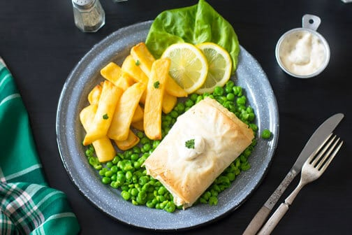 Irish Fillo Pastry Fish and Chips   All that's Jas