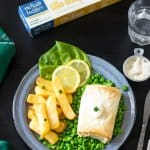 St. Patrick's Day dinner recipe for fish and chips with fillo.