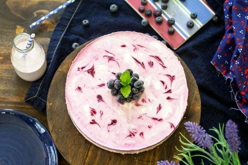 No-Bake Kefir Blueberry Cheesecake | All that's Jas