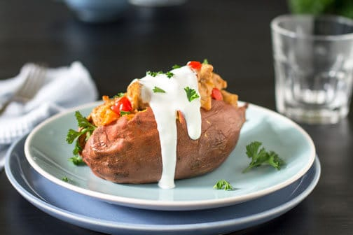 Thai Stuffed Sweet Potatoes | All that's Jas