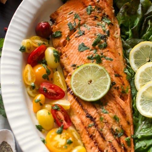 Cuban Marinated Grilled Salmon Recipe
