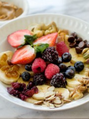 Fruit & Nuts Monkey Breakfast Bowl | All that's Jas