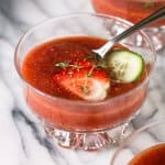 Chilled soup with strawberries, a Spanish classic - gazpacho