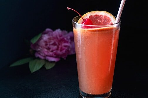 Grapefruit Tequila Sunrise Cocktail | All that's Jas