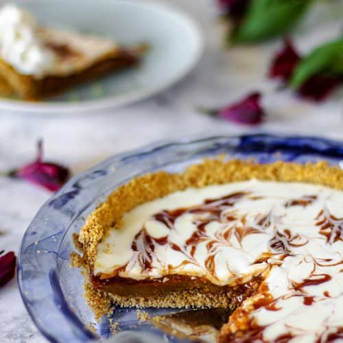 Brazilian Guava and Salted Caramel Pie