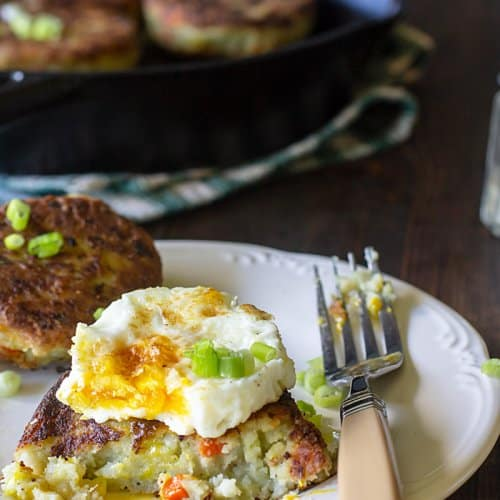 Bubble and Squeak Leftover Potato Cakes
