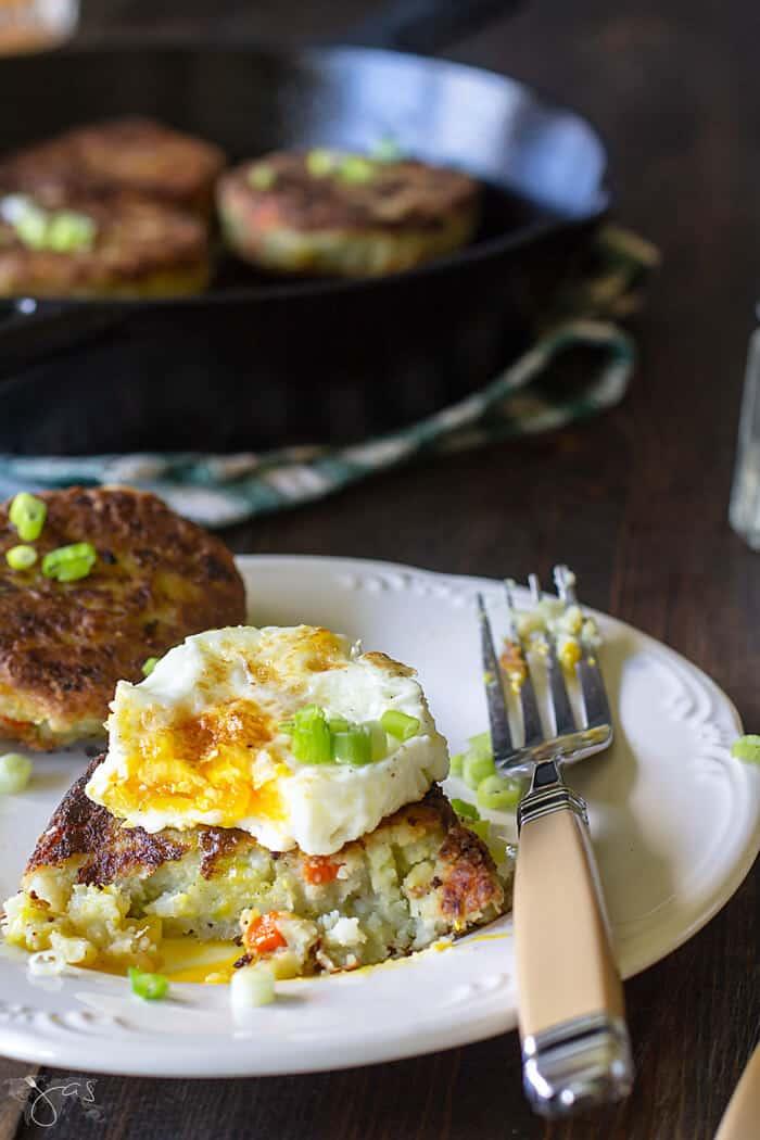 Bubble and Squeak Leftover Potato Cakes Recipe