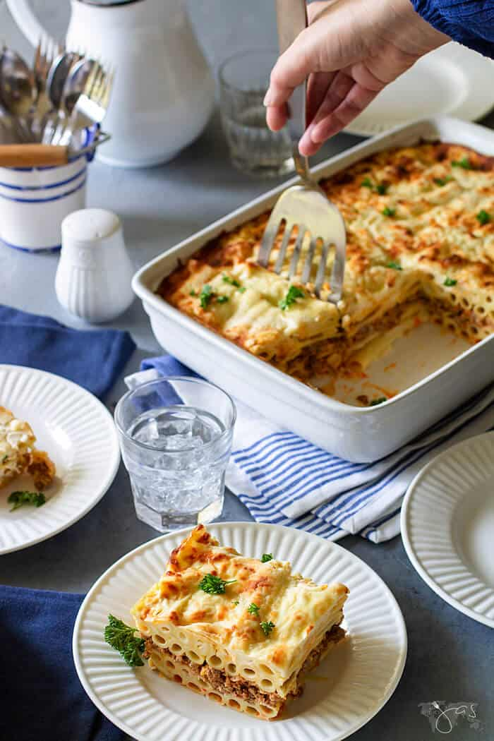 Rich pasta casserole that feeds a crowd this Greek Pastitsio is the ultimate comfort food.