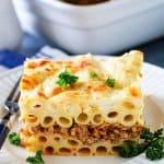 Greek Pastitsio Pasta Casserole