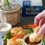 Spicy Shrimp in Crispy Kataifi Dough | allthatsjas.com