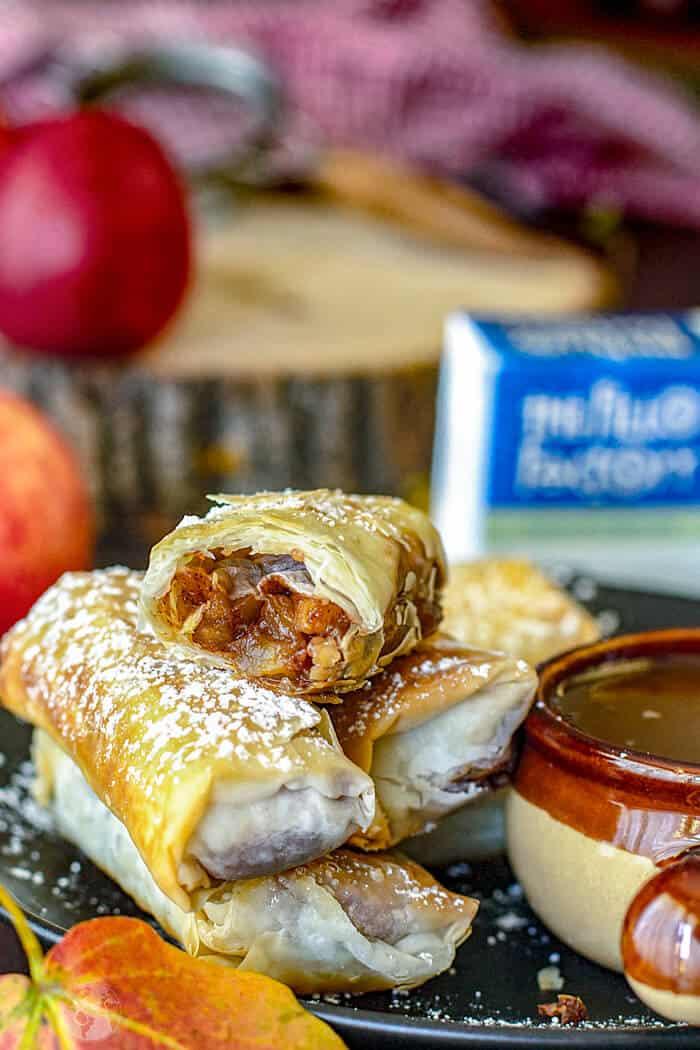 Swedish Apple Pie Fillo Rolls